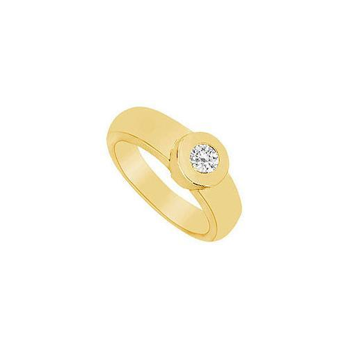 Diamond Ring : 14K Yellow Gold - 0.25 CT Diamonds-JewelryKorner-com