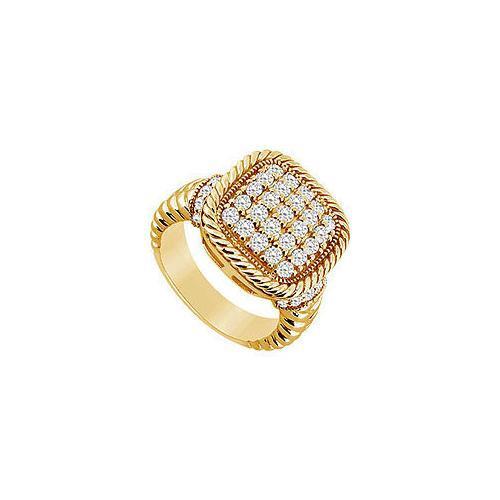 Diamond Ring : 14K Yellow Gold - 0.75 CT Diamonds-JewelryKorner-com