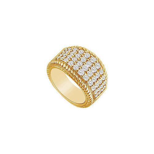 Diamond Ring : 14K Yellow Gold - 1.25 CT Diamonds-JewelryKorner-com