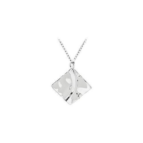 Diamond Shaped Charm Pendant: .925 Sterling Silver - 26.58 X 26.58 MM-JewelryKorner-com