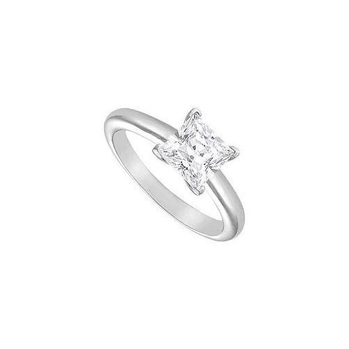 Diamond Solitaire Ring : 14K White Gold – 2.00 CT Diamond-JewelryKorner-com