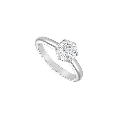 Diamond Solitaire Ring : 18K White Gold – 2.00 CT Diamond-JewelryKorner-com
