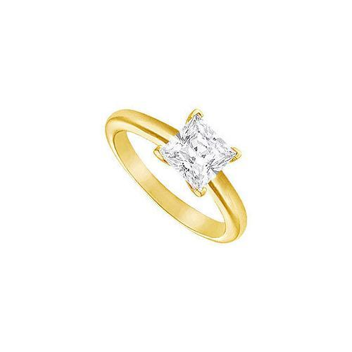 Diamond Solitaire Ring : 18K Yellow Gold – 2.00 CT Diamond-JewelryKorner-com