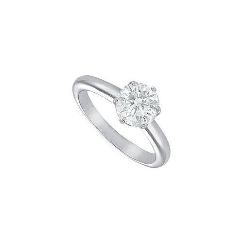 Diamond Solitaire Ring : Platinum – 2.00 CT Diamond-JewelryKorner-com