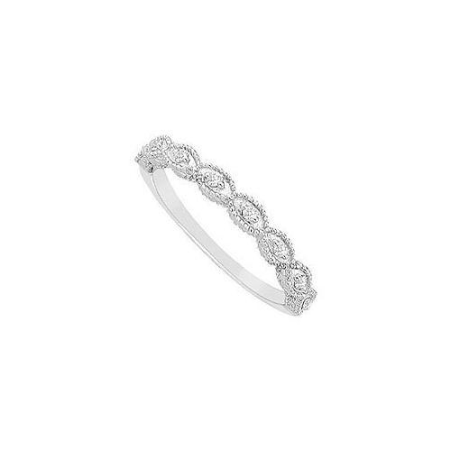 Diamond Wedding Band : 14K White Gold - 0.10 CT Diamonds-JewelryKorner-com