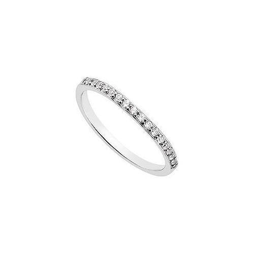 Diamond Wedding Band : 14K White Gold 0.15 CT Diamonds-JewelryKorner-com