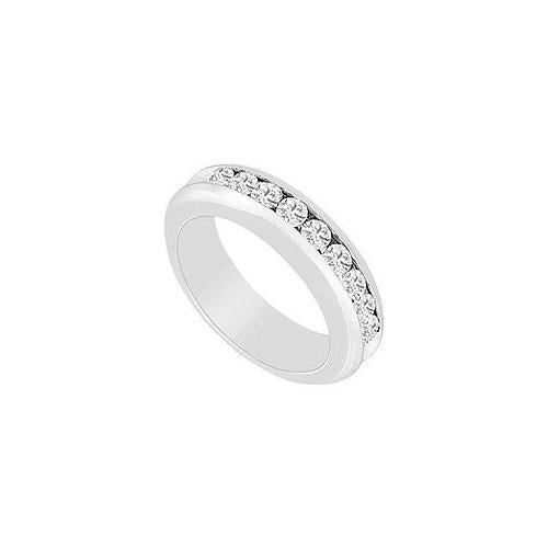 Diamond Wedding Band : 14K White Gold - 0.25 CT Diamonds-JewelryKorner-com