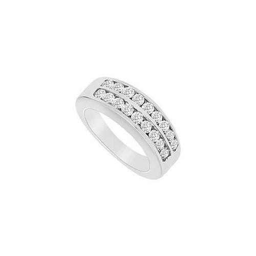 Diamond Wedding Band : 14K White Gold - 0.50 CT Diamonds-JewelryKorner-com