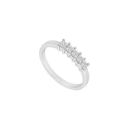 Diamond Wedding Band : 14K White Gold - 1.00 CT Diamonds-JewelryKorner-com