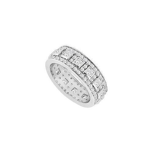 Diamond Wedding Band : 14K White Gold - 1.75 CT Diamonds-JewelryKorner-com