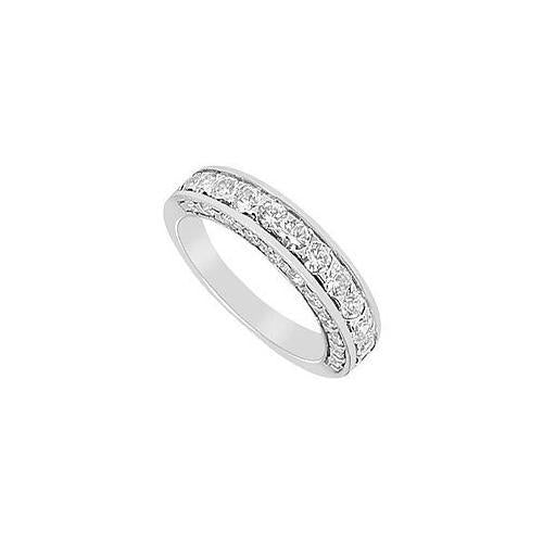 Diamond Wedding Band : 14K White Gold - 2.00 CT Diamonds-JewelryKorner-com