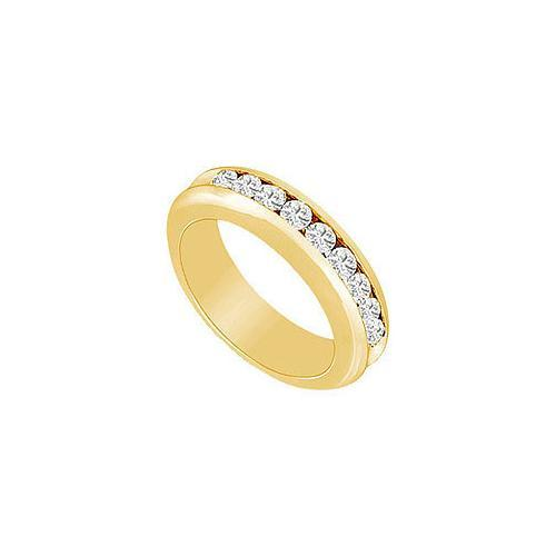 Diamond Wedding Band : 14K Yellow Gold - 0.25 CT Diamonds-JewelryKorner-com