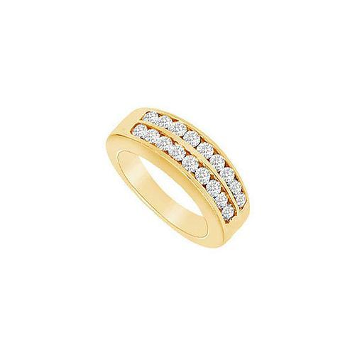 Diamond Wedding Band : 14K Yellow Gold - 0.50 CT Diamonds-JewelryKorner-com