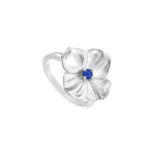 Diffuse Sapphire Flower Ring : .925 Sterling Silver - 0.10 CT TGW-JewelryKorner-com