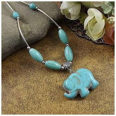Elephanta Turquoise Necklace-JewelryKorner-com