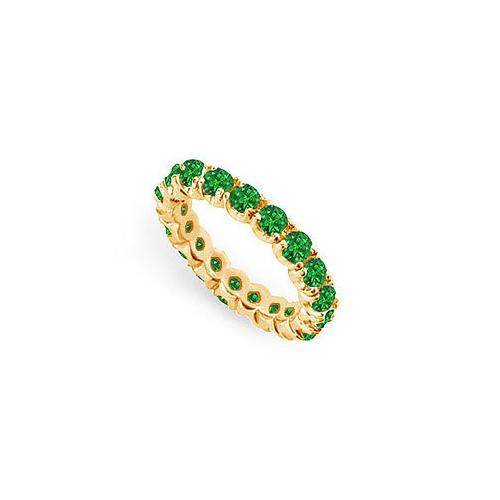 Emerald Eternity Band : 14K Yellow Gold - 2.00 CT TGW-JewelryKorner-com