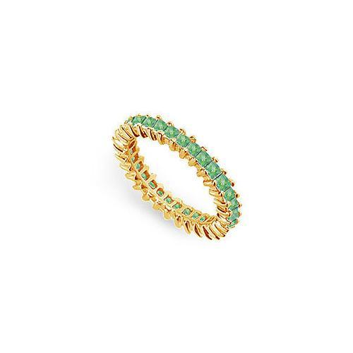 Emerald Eternity Band : 14K Yellow Gold – 2.00 CT TGW-JewelryKorner-com