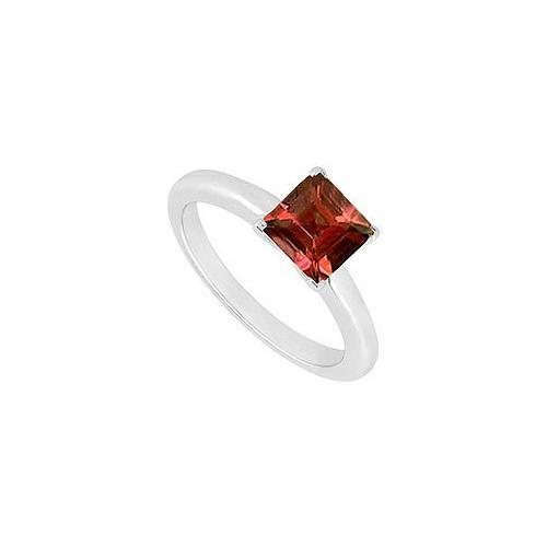 Garnet Ring : 14K White Gold - 0.75 CT TGW-JewelryKorner-com