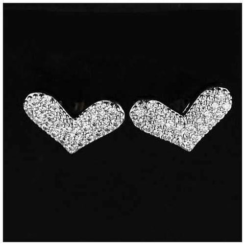 Heart Beats The Pave Heart Earrings-JewelryKorner-com