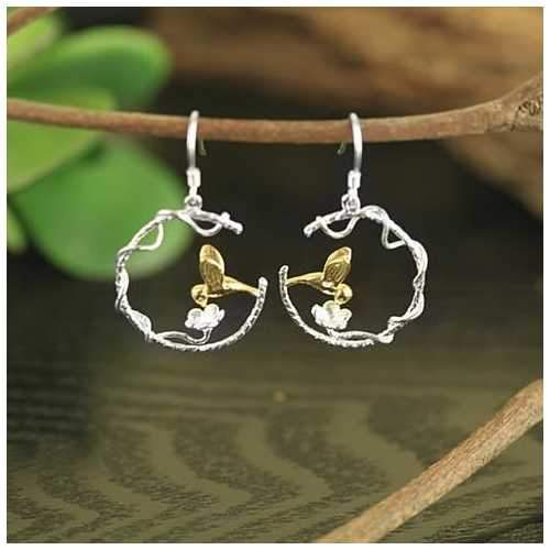 Hummingbird Earrings - Your Messenger of Love-JewelryKorner-com