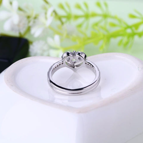 Heart By Heart Big Rings Sterling 925 Silver for Women Fine Jewelry Luxury Fashion Heart Shape Ring Women Men's Jewelry Rings-JewelryKorner