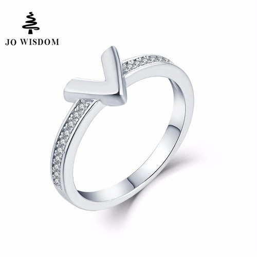 JO WISDOM Fine Rings 925 Silver Jewelry Simple Rings for Women Wedding Ring Engagement Ring for Women Best Gift for Lover-JewelryKorner
