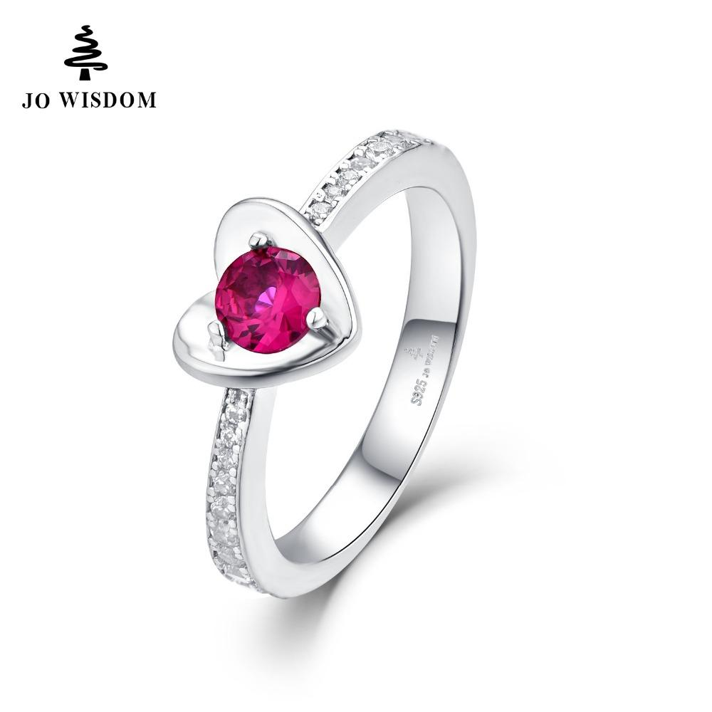 JO WISDOM Heart Shape Silver 925 Jewelry Ring AAA Level Wedding Band Engagement Rings for Women Girl Bijoux With StylishGift Box-JewelryKorner