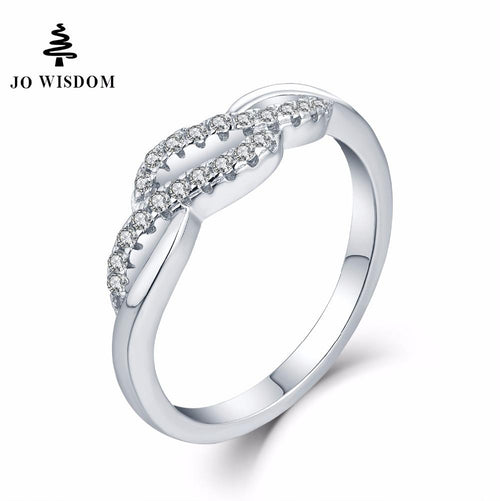 JO WISDOM Trendy 100% 925 Silver Jewelry Rings for Women Wedding Ring Engagement Ring for Women Best Gift for Lover-JewelryKorner