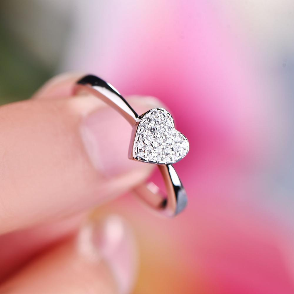 JO WISDOM Trendy Silver 925 Jewelry Rings Women Wedding Engagement Rin
