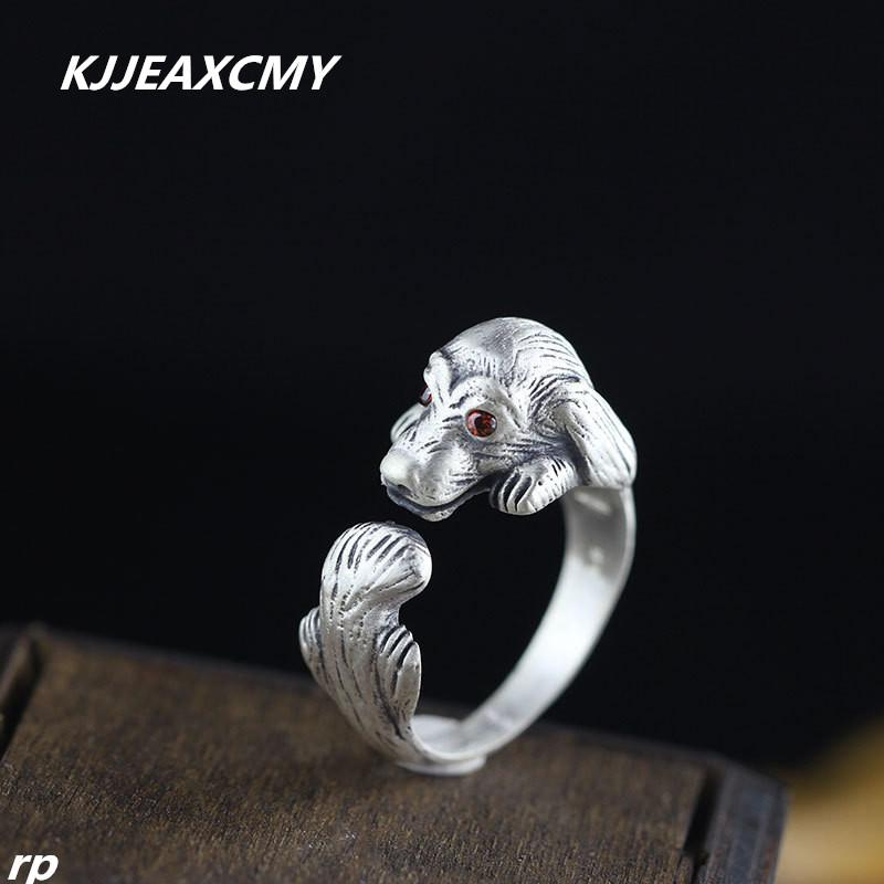 KJJEAXCMY 999 sterling silver jewelry silver jewelry boutique matte handmade folk style lady pet Tactic ring-JewelryKorner
