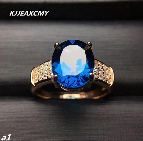 KJJEAXCMY Fine jewelry 925 Sterling Silver with natural topotecantreatment shinv ring and silver-JewelryKorner