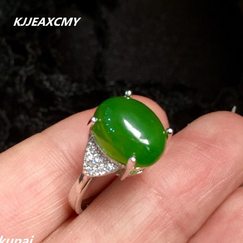 KJJEAXCMY Fine jewelry Colorful jewelry 925 silver inlaid natural Jasper ring, simple and generous, wholesale female models-JewelryKorner