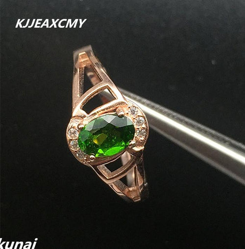 KJJEAXCMY Fine jewelry Colorful jewelry, 925 silver inlaid natural rings, women's style of originality, simple and generous-JewelryKorner