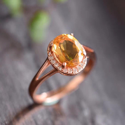 KJJEAXCMY Fine jewelry, colorful jewelry, 925 silver, natural yellow Peridot, female rings-JewelryKorner
