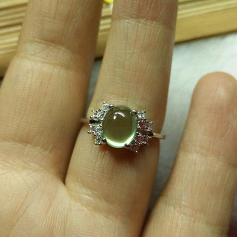 KJJEAXCMY Fine jewelry, Colorful jewelry, natural stone ring, 925 silver boutique promotion-JewelryKorner