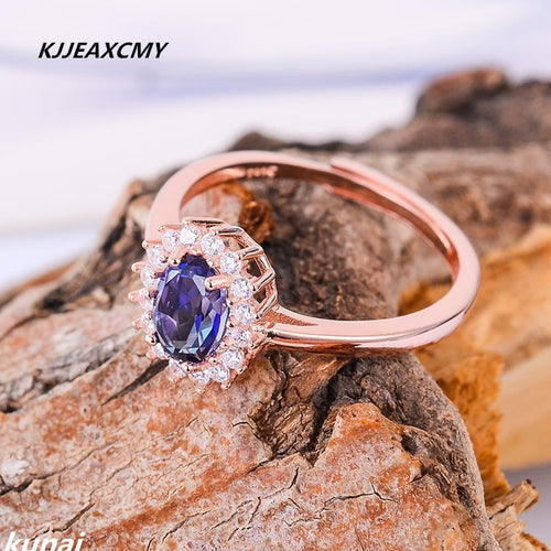 KJJEAXCMY Fine jewelry Multicolored jewelry 925 silver ang Tanzania color topaz rings women wholesale-JewelryKorner