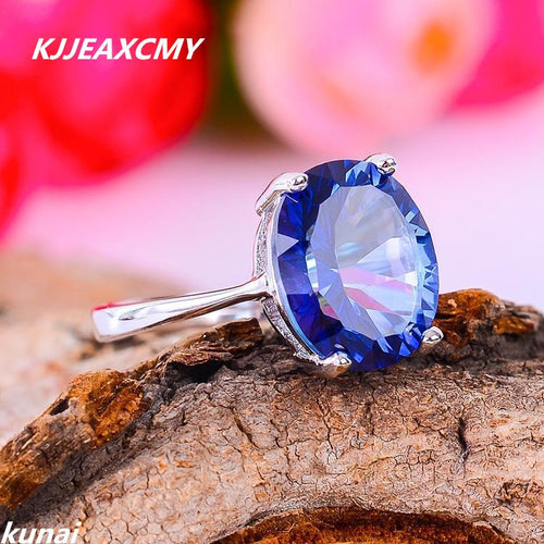 KJJEAXCMY Fine jewelry, Multicolored Jewelry Girls STERLING SILVER RING 925 silver inlay Tanzania color Topaz Ring-JewelryKorner