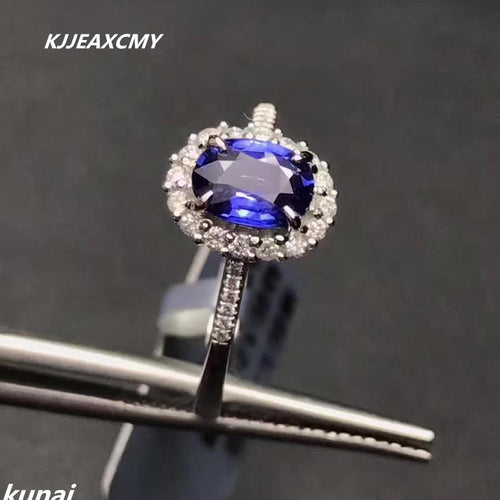 KJJEAXCMY Fine jewelry Multicolored jewelry wholesale 925 Sterling Silver Ring Silver Inlay Tanzania color Topaz Ring-JewelryKorner