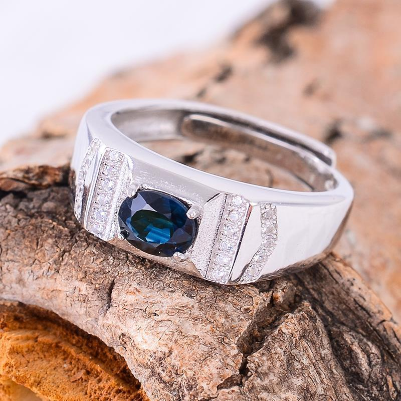 KJJEAXCMY Fine jewelry Multicolored jewelry wholesale LADIES RING 925 silver inlay Tanzania color Topaz Ring-JewelryKorner