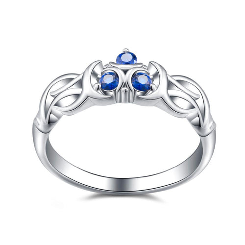 The Legend of Zelda Fans Ocarina of Time Zora Sapphire Inspired Natural Colored Gems Ring Breath of the Wild Gift in BOX-JewelryKorner