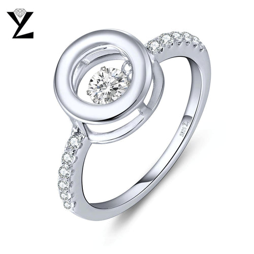 YL Dancing Topaz Stone Engagement Rings for Women Fine Jewelry Wedding 925 Sterling Silver Sterling Silver Jewelry Wholesale-JewelryKorner
