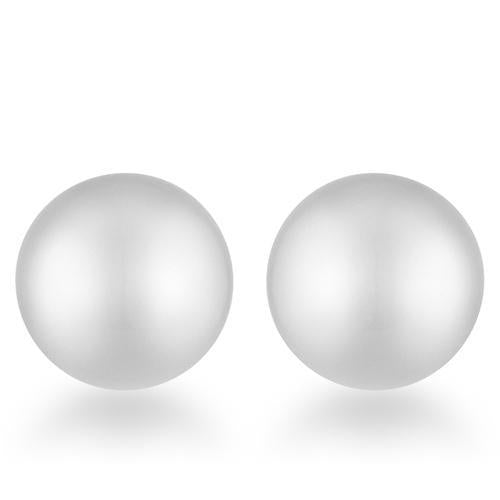 Julie Rhodium Sphere Stud Earrings-JewelryKorner-com
