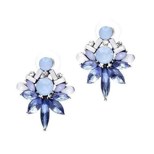 Precious Studs Statement Earrings-JewelryKorner-com
