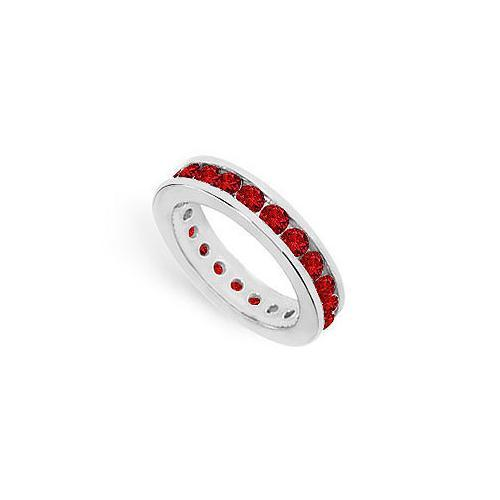 Ruby Eternity Band : 14K White Gold – 2.00 CT TGW-JewelryKorner-com