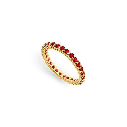 Ruby Eternity Band : 14K Yellow Gold – 1.00 CT TGW-JewelryKorner-com