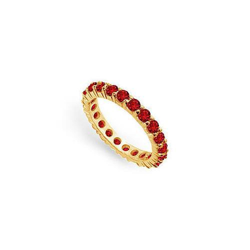 Ruby Eternity Band : 14K Yellow Gold – 2.00 CT TGW-JewelryKorner-com