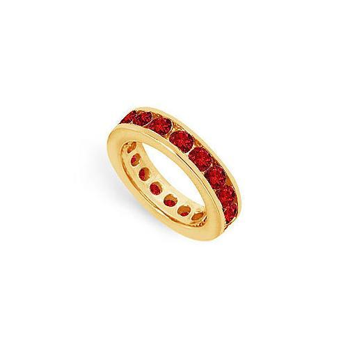 Ruby Eternity Band : 14K Yellow Gold – 3.00 CT TGW-JewelryKorner-com