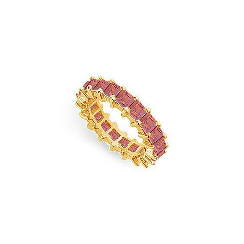 Ruby Eternity Band : 14K Yellow Gold – 4.00 CT TGW-JewelryKorner-com