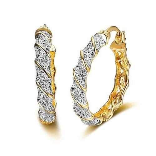 Sandy Beach Hoop Earrings-JewelryKorner-com