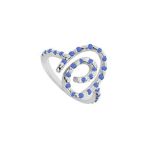 Sapphire Ring : 14K White Gold - 0.50 CT TGW-JewelryKorner-com